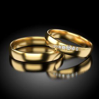 Obrączki ślubne próba 585